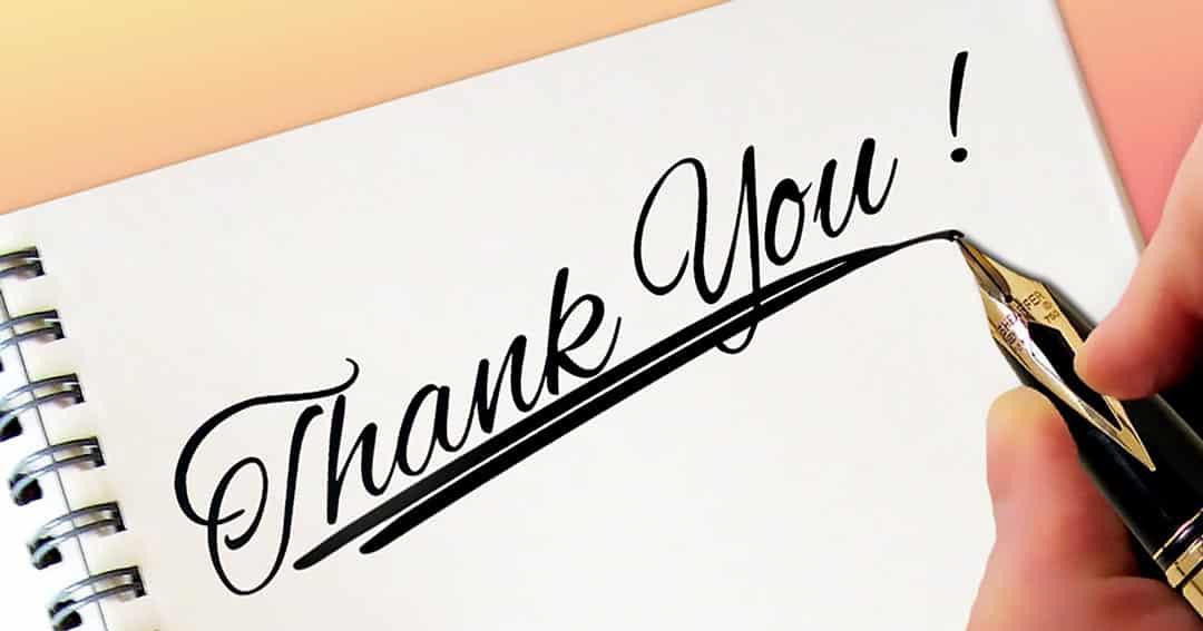 מכתב תודה על טיפול בפציעות קרטה