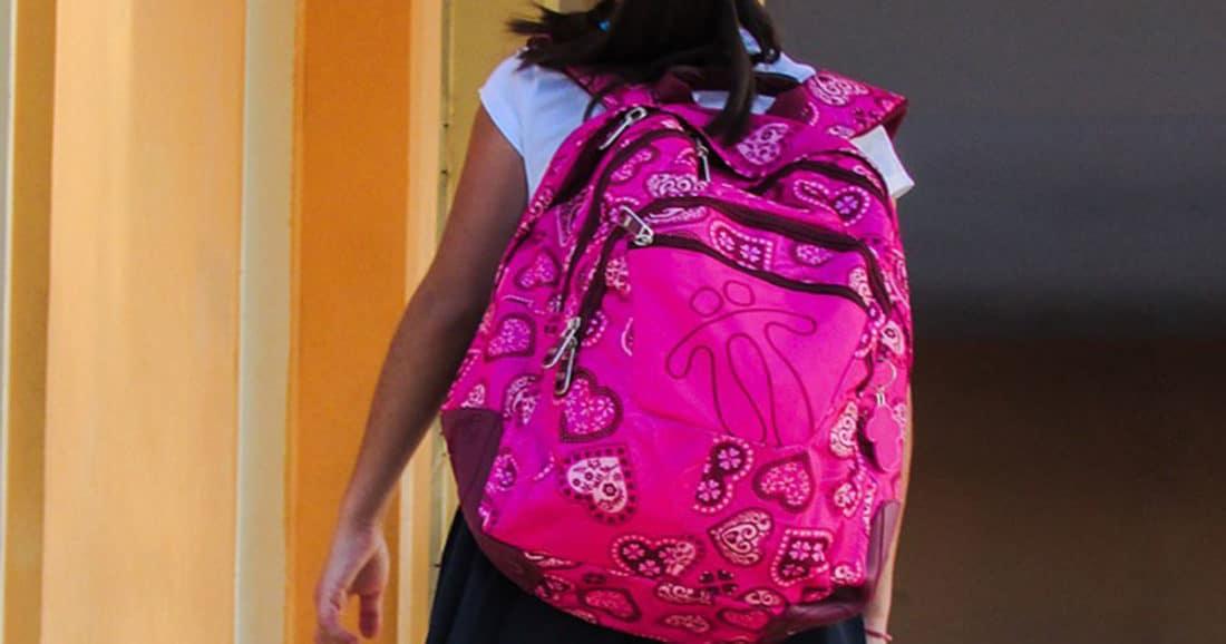 הילקוט גורם כאבי גב בקרב ילדים