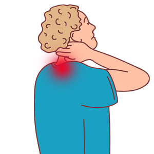 כאבי צוואר עם ובלי השלכות כאב