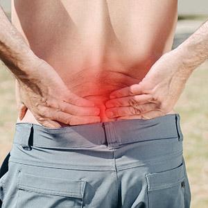 כאבי גב תחתון בגלל פעילות גופנית